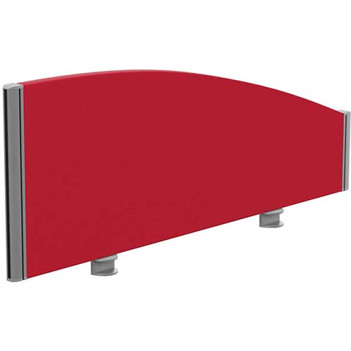 Sprint Eco Office Desk Screen Curved Top W1000xH380-180mm Red