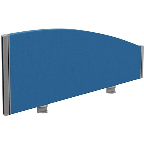 Sprint Eco Office Desk Screen Curved Top W1000xH380-180mm Blue