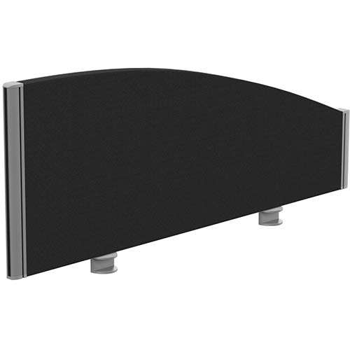 Sprint Eco Office Desk Screen Curved Top W1000xH380-180mm Black