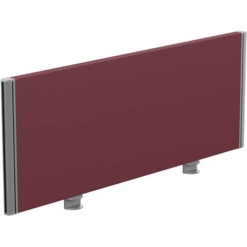 Sprint Eco Office Desk Screen Straight Top W1000xH380mm Burgundy