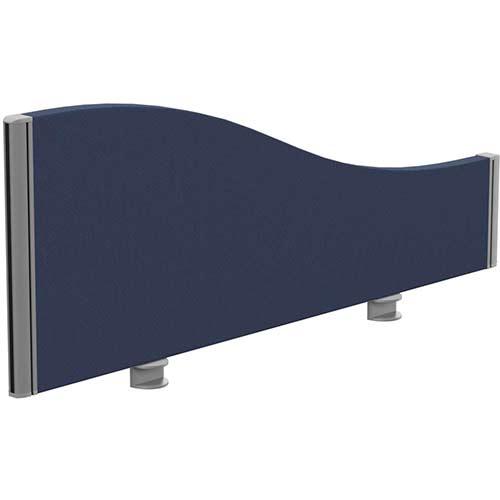 Sprint Eco Office Desk Screen Wave Top W1000xH380-180mm Dark Blue