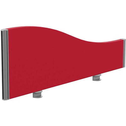 Sprint Eco Office Desk Screen Wave Top W1000xH380-180mm Red