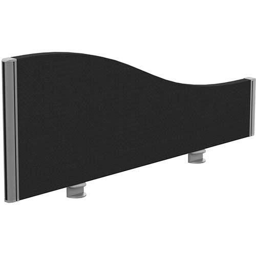 Sprint Eco Office Desk Screen Wave Top W1000xH380-180mm Black