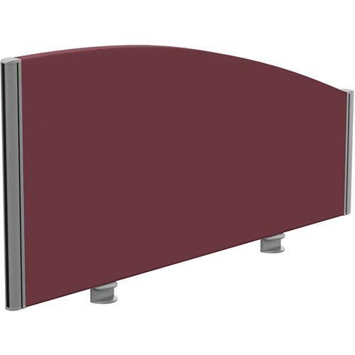 Sprint Eco Office Desk Screen Curved Top W1000xH480-280mm Burgundy