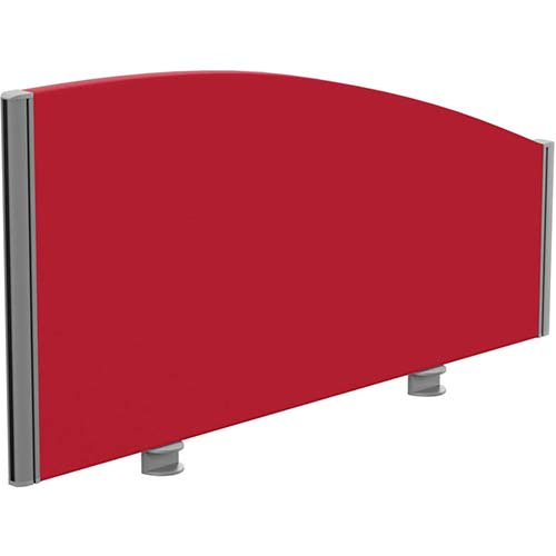 Sprint Eco Office Desk Screen Curved Top W1000xH480-280mm Red