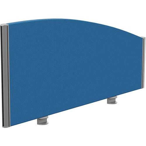 Sprint Eco Office Desk Screen Curved Top W1000xH480-280mm Blue
