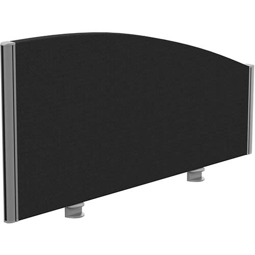 Sprint Eco Office Desk Screen Curved Top W1000xH480-280mm Black