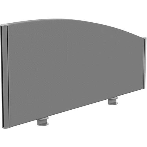 Sprint Eco Office Desk Screen Curved Top W1000xH480-280mm Grey