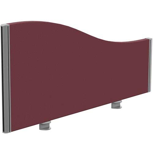 Sprint Eco Office Desk Screen Wave Top W1000xH480-280mm Burgundy