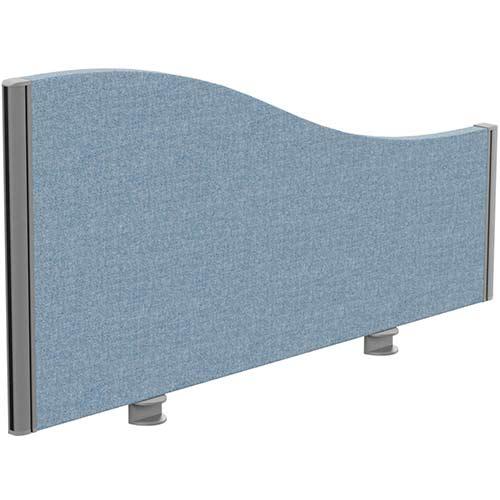 Sprint Eco Office Desk Screen Wave Top W1000xH480-280mm Light Blue