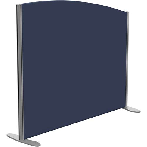 Sprint Eco Freestanding Screen Curved Top W1200xH1000-800mm Dark Blue - With Stabilising Feet