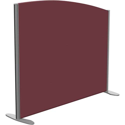 Sprint Eco Freestanding Screen Curved Top W1200xH1000-800mm Wine - With Stabilising Feet