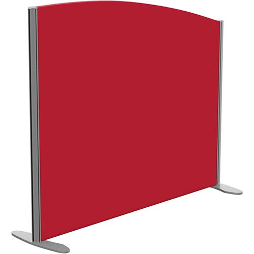 Sprint Eco Freestanding Screen Curved Top W1200xH1000-800mm Red - With Stabilising Feet
