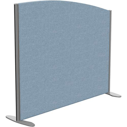 Sprint Eco Freestanding Screen Curved Top W1200xH1000-800mm Light Blue - With Stabilising Feet