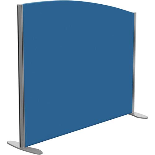 Sprint Eco Freestanding Privacy Acoustic Screen Curved Top W1200xH1000-800mm Blue - With Stabilising Feet