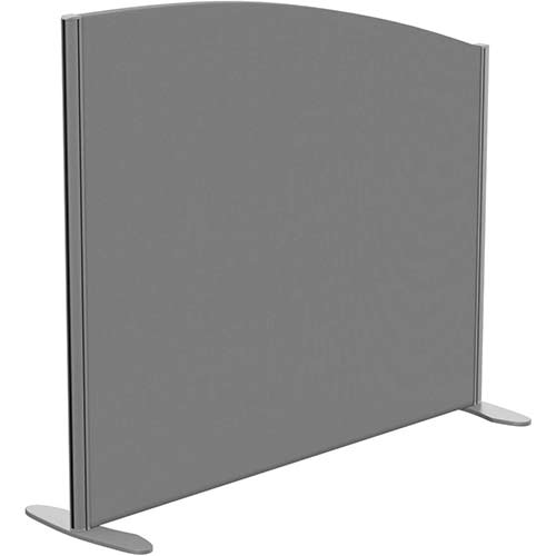 Sprint Eco Freestanding Screen Curved Top W1200xH1000-800mm Grey - With Stabilising Feet