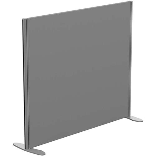 Sprint Eco Freestanding Screen Straight Top W1200xH1000mm Grey - With Stabilising Feet