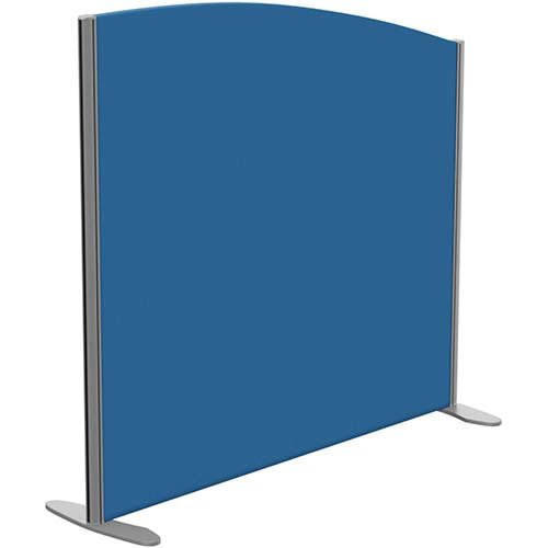 Sprint Eco Freestanding Privacy Acoustic Screen Curved Top W1200xH1100-900mm Blue - With Stabilising Feet