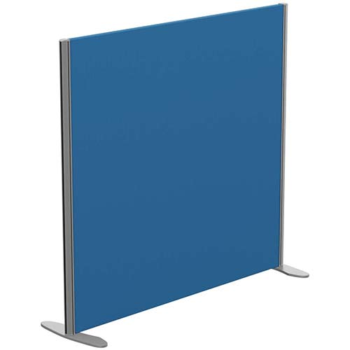 Sprint Eco Freestanding Privacy Acoustic Screen Straight Top W1200xH1100mm Blue - With Stabilising Feet