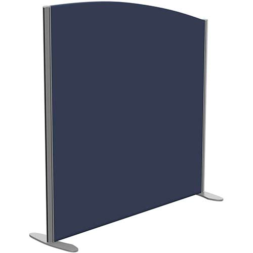 Sprint Eco Freestanding Screen Curved Top W1200xH1200-1000mm Dark Blue - With Stabilising Feet