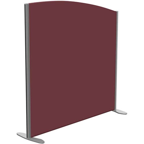 Sprint Eco Freestanding Screen Curved Top W1200xH1200-1000mm Wine - With Stabilising Feet
