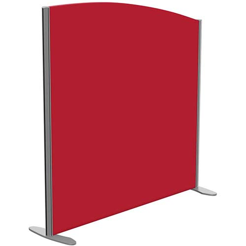 Sprint Eco Freestanding Screen Curved Top W1200xH1200-1000mm Red - With Stabilising Feet