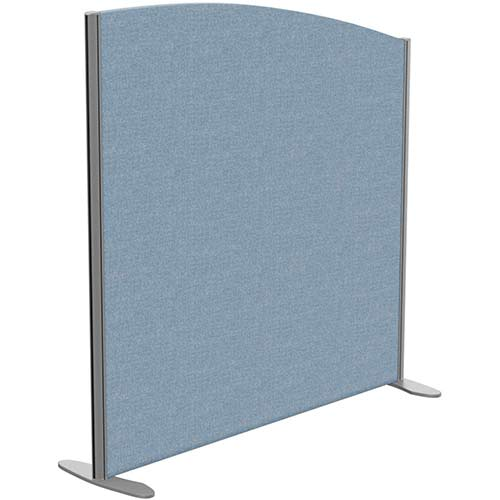 Sprint Eco Freestanding Screen Curved Top W1200xH1200-1000mm Light Blue - With Stabilising Feet
