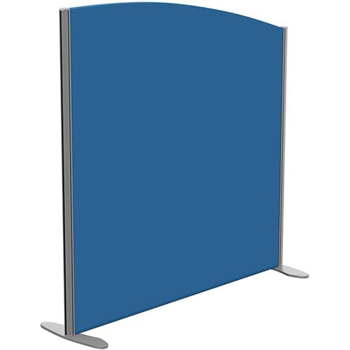 Sprint Eco Freestanding Privacy Acoustic Screen Curved Top W1200xH1200-1000mm Blue - With Stabilising Feet