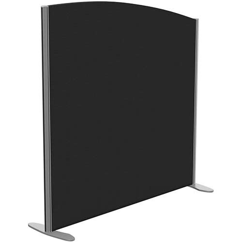 Sprint Eco Freestanding Screen Curved Top W1200xH1200-1000mm Black - With Stabilising Feet