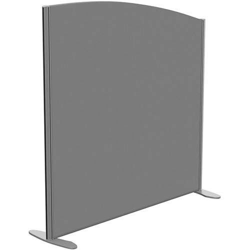 Sprint Eco Freestanding Screen Curved Top W1200xH1200-1000mm Grey - With Stabilising Feet