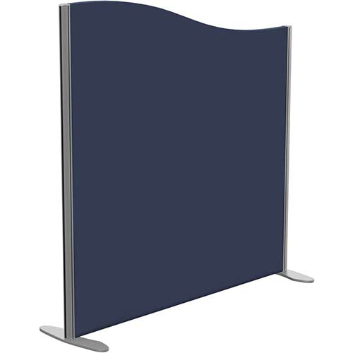 Sprint Eco Freestanding Screen Wave Top W1200xH1200-1000mm Dark Blue - With Stabilising Feet