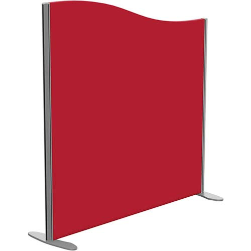 Sprint Eco Freestanding Screen Wave Top W1200xH1200-1000mm Red - With Stabilising Feet
