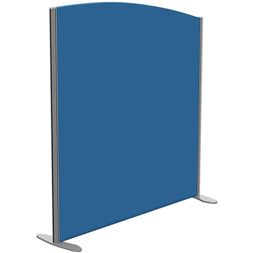 Sprint Eco Freestanding Privacy Acoustic Screen Curved Top W1200xH1300-1100mm Blue - With Stabilising Feet