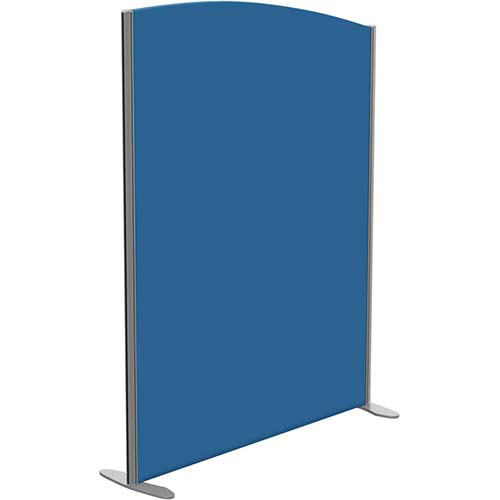 Sprint Eco Freestanding Privacy Acoustic Screen Curved Top W1200xH1600-1400mm Blue - With Stabilising Feet