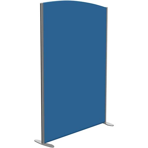 Sprint Eco Freestanding Privacy Acoustic Screen Curved Top W1200xH1800-1600mm Blue - With Stabilising Feet