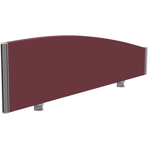 Sprint Eco Office Desk Screen Curved Top W1200xH380-180mm Burgundy