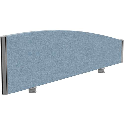 Sprint Eco Office Desk Screen Curved Top W1200xH380-180mm Light Blue