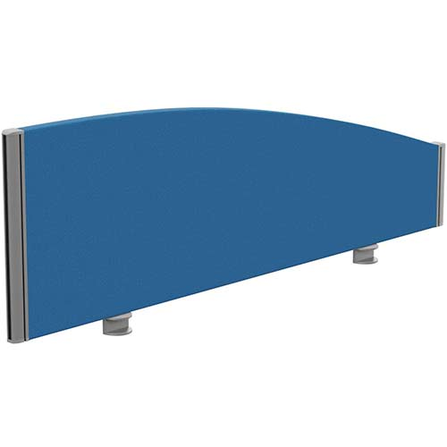 Sprint Eco Office Desk Screen Curved Top W1200xH380-180mm Blue