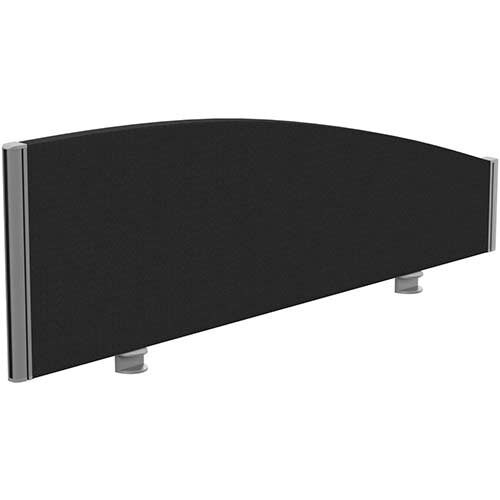 Sprint Eco Office Desk Screen Curved Top W1200xH380-180mm Black