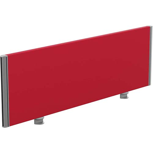 Sprint Eco Office Desk Screen Straight Top W1200xH380mm Red