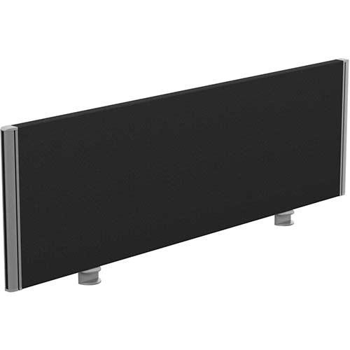 Sprint Eco Office Desk Screen Straight Top W1200xH380mm Black