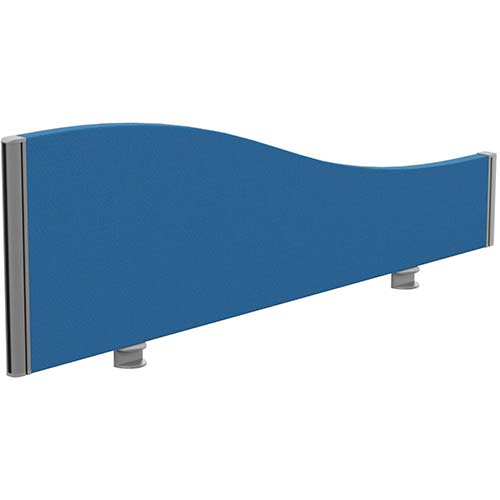 Sprint Eco Office Desk Screen Wave Top W1200xH380-180mm Blue
