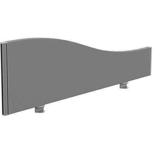 Sprint Eco Office Desk Screen Wave Top W1200xH380-180mm Grey