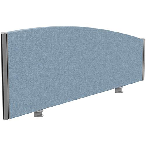 Sprint Eco Office Desk Screen Curved Top W1200xH480-280mm Light Blue
