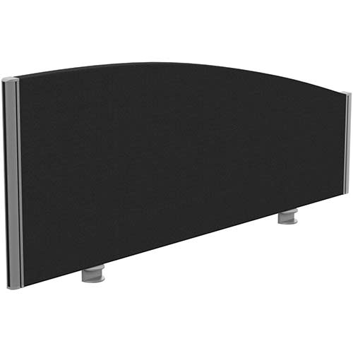 Sprint Eco Office Desk Screen Curved Top W1200xH480-280mm Black