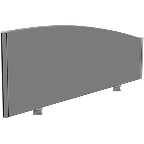 Sprint Eco Office Desk Screen Curved Top W1200xH480-280mm Grey