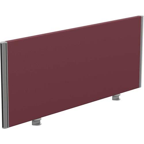 Sprint Eco Office Desk Screen Straight Top W1200xH480mm Burgundy