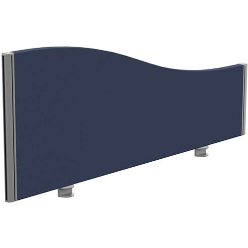 Sprint Eco Office Desk Screen Wave Top W1200xH480-280mm Dark Blue