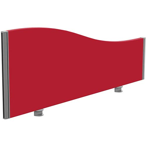Sprint Eco Office Desk Screen Wave Top W1200xH480-280mm Red