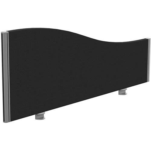 Sprint Eco Office Desk Screen Wave Top W1200xH480-280mm Black